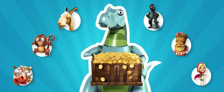 LuckyDino on nettikasino, missä on paljon kaikkea kivaa!