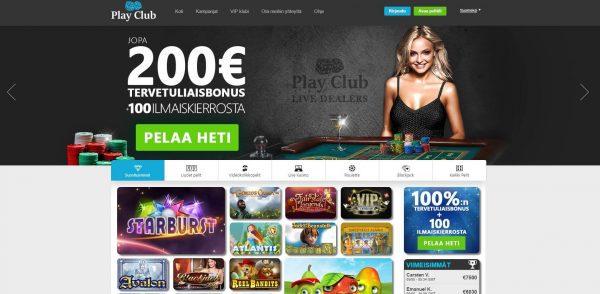 Play Club - Casinobonukset