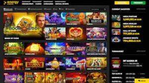 Energy Casino kaikki pelit esillä