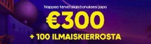 Lunasta 300 euroa casinobonusta Bao Casinolta!