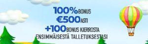 Slotnite tarjoaa 1250 euroa casinobonusta
